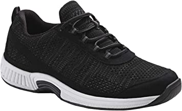 Orthofeet Proven Foot and Heel Pain Relief. Extended Widths. Best Orthopedic Shoes Plantar Fasciitis, Diabetic Men's Walking Shoes, Lava