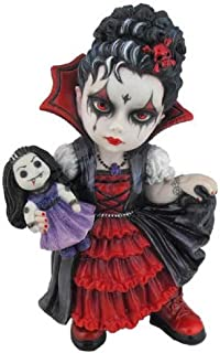 US 5.87 Inch Poly Stone Cosplay Kids Vampire Girl Holding A Vamp Doll