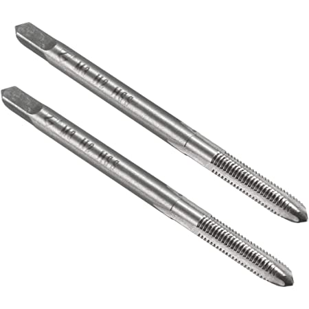 YXQ M3 x 0.5mm Tap Machine Metric Right Hand Thread 3 Straight Flute Taps Taper and Plug 2Pcs