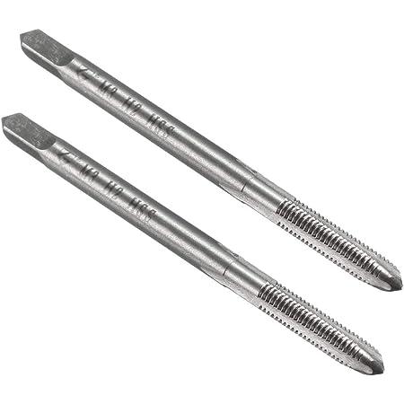 YXQ M3 x 0.5mm Tap Machine Metric Right Hand Thread 3 Straight Flute Taps Taper and Plug 2Pcs