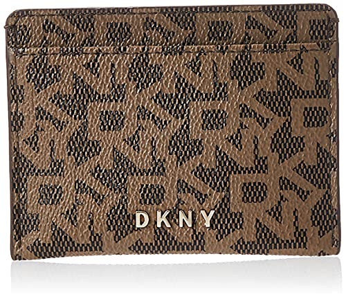 DKNY Bryant - Tarjetero para mujer, talla única, color marrón