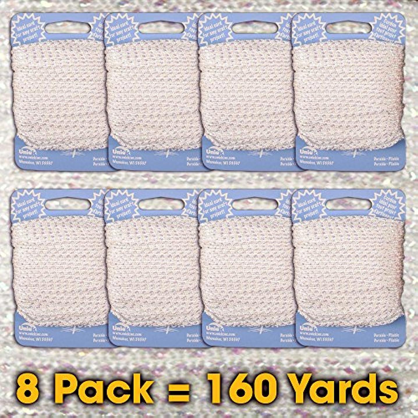 #33 Iridescent White - Needloft Craft Cord 8 Pack 160 Yards (8x20yds)