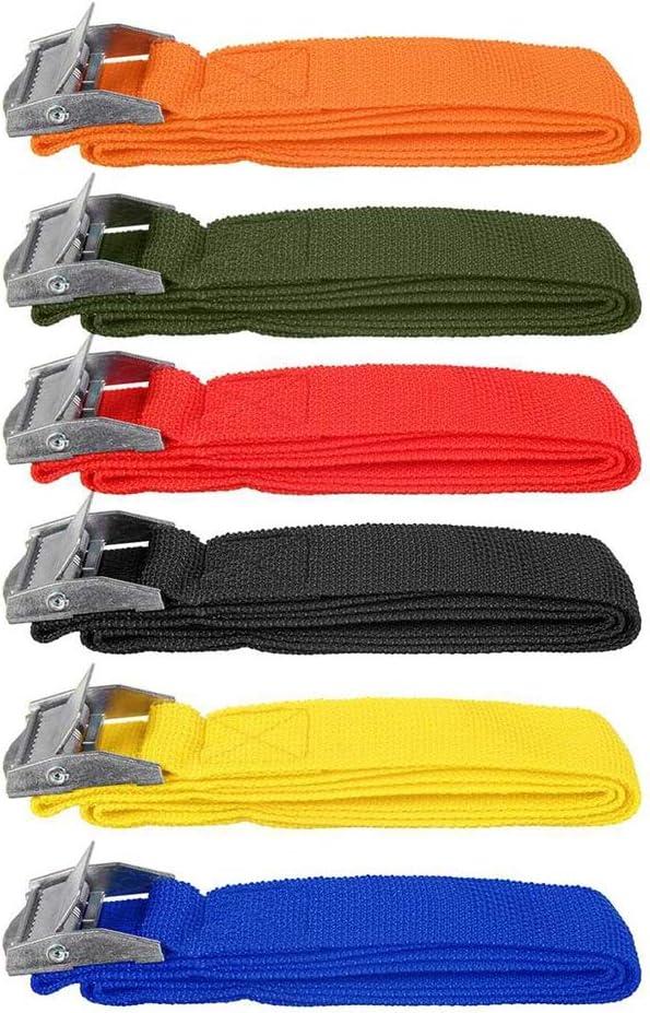 Correa de amarre resistente correas tensoras correas de amarre para camiones bicicleta barco remolque sup kayak coche equipaje correa 25 mm x 4 m