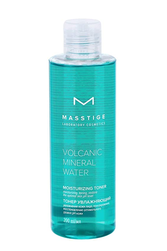 合理化備品宿命MASSTIGE | Volcanic Mineral Water | Moisturizing Facial Toner | Extract Of Dead Sea Minerals | Panthenol | Hyaluronic Acid | 200 ml