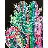 Flbyqv DIY 5d Diamante Kit de Pintura,Cactus Diamond Painting Bordado de...