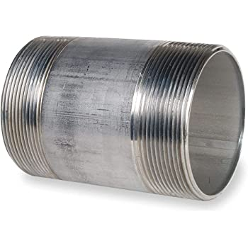 Threaded on Both Ends CAI Approved 3//8 x 9 316 Stainless Steel Nipple Pipe Schedule 40