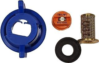 Ink Trendz DTG Pretreat Sprayer Nozzle Kit TeeJet 9501EVS Even Banding Spray Tip Nozzel, Gasket, Brass Strainer & Quick Cap Kit for DTG PreTreat (Complete Nozzle Kit)