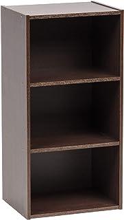 Marque Amazon - Movian Module Wood Shelf MDB-3 Etagère de rangement modulable 3 casiers en bois MDF, Engineered, Chêne Brun