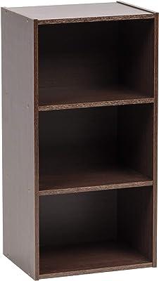 Marque Amazon - Movian 531524 Etagère de rangement modulable 3 casiers en bois MDF, Engineered Wood, Chêne Brun, MDB-3