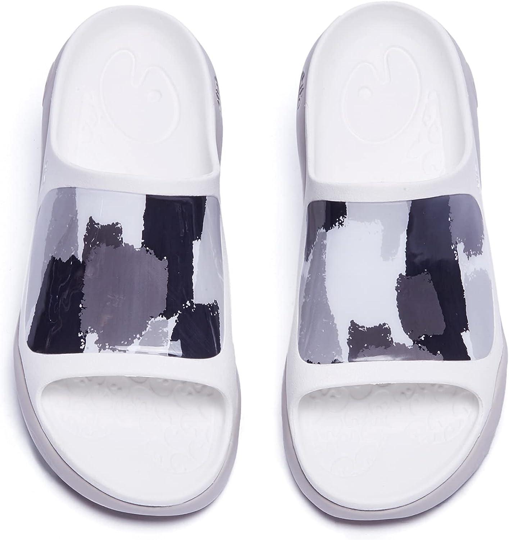 UIN Women's Slides Sandals Beach Summer Casual Art Painted Travel Anti-Slip Comfort Lightweight Fashion Slippers Ibiza
