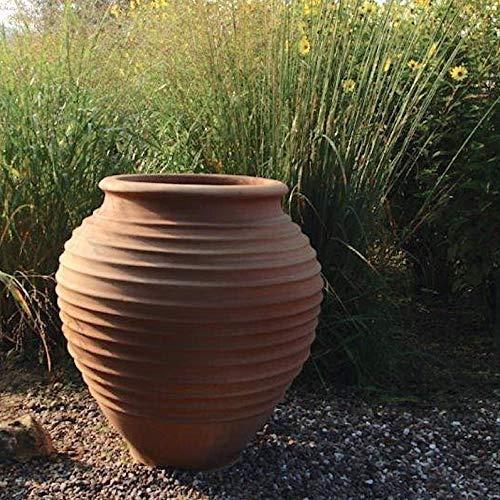 Céramique crète | Amphore méditerranéenne de haute qualité | 60 cm | antigel | jardinière bulbeuse pour l'intérieur et l'extérieur, décoration de terrasse de jardin, ficus