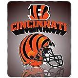 NFL Cincinnati Bengals Gridiron Fleece Throw, 50-inches x 60-inches