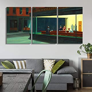 wall26 - Nighthawks by Edward Hopper - Canvas Art Wall Decor - 16