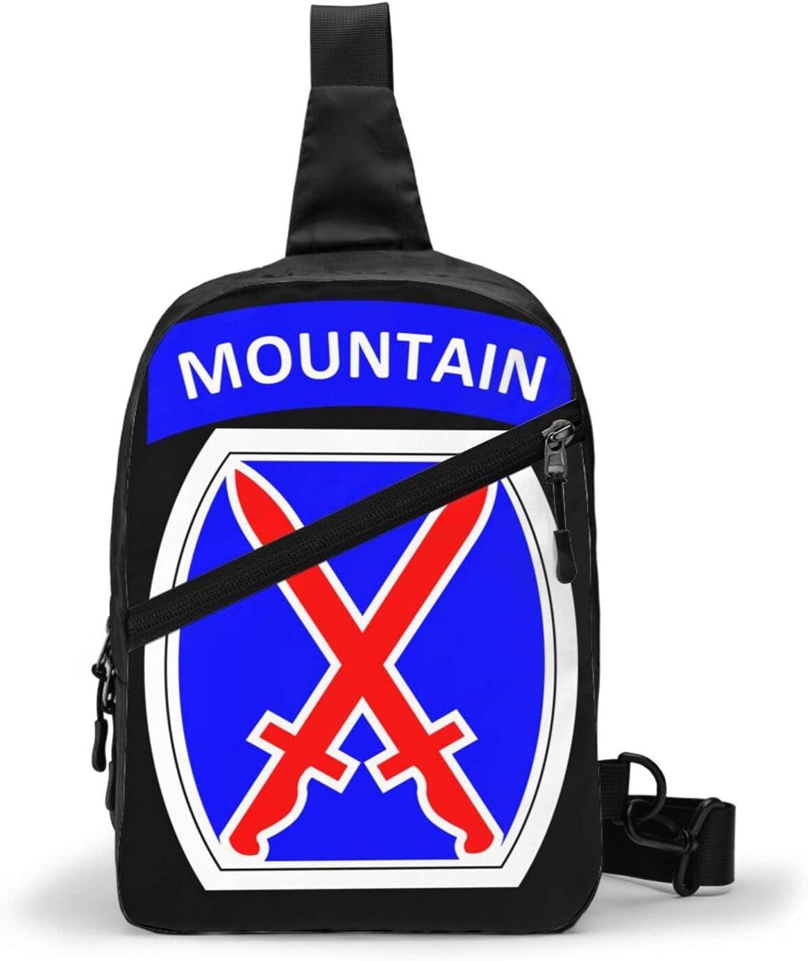 Trioepu 10th Mountain Las Vegas Mall Division Shoulder Men Women Super Special SALE held Bag Crossbody