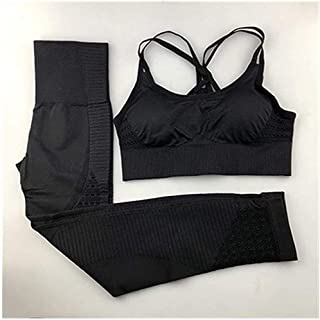 OneChange Seamless Lady Yoga Suit Fitness Clothing Sportswear Gym Ms. Leggings Thick Elastic Push-up Sports Bra Two Sets o...
