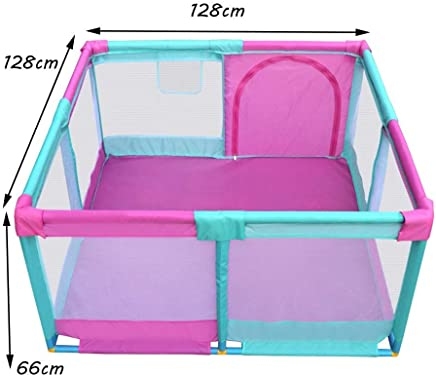 MJY Safety Fence Playpens Children s  Kids Activity Centre Safety Play Yard  Indoor Crawling Security Fence  128 amp Times 128 amp Times 66Cm