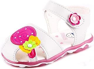 Anrenity Baby Girls Soft Round Toe Summer Sandals Cartoon Flat Shoes(Toddler)