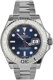Rolex Yatch-Master Blue Dial Platinum and Steel MensWatch 116622