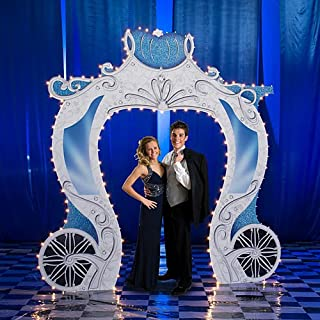 Fairytale Carriage Entrance Prop Standup Photo Booth Prop Background Backdrop Party Decoration Decor Scene Setter Cardboard Cutout