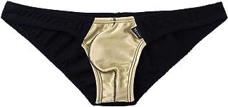 Freebily Men Color Block Bulge Pouch Sport Comfort Underwear Low Rise Bikinis Briefs