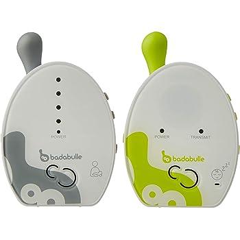 Badabulle Baby Online 500m Babyphone avec Veilleuse Vibreur et Adaptateurs