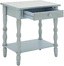 """Deco 79 60118 Wood Side Table, 22"""" x 31"""", Gray-Blue"""