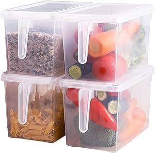 Xnuoyo Aliments Boîtes De Rangement, À Usage Multiple Récipients Alimentaires en Plastique, Avec Poignée et Couvercle, pou...