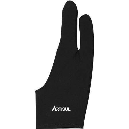 Artisul ArtistグローブG05 2本指手袋 お絵かきグローブ 左利き右利き両用 防汚 ペンタブレットの使用に最適