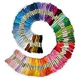 B008JS522G - Filo da ricamo, 100% cotone, 100 matassine in colori assortiti...