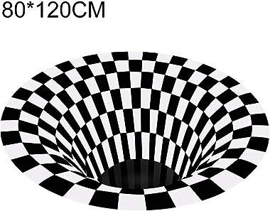 Sincrystal Vortex Illusion Rug 3D Trap Effect Printing Carpet Bedroom Living Room Study Room Floor Mat