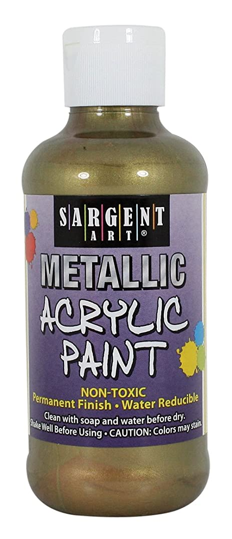Sargent Art 25-2375 8-OunceMetallic Acrylic Paint, Antique Gold
