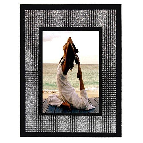 Glamexx24 Bilderrahmen Fotorahmen Poster Foto in Strass Steinen Muster Kunststoffrahmen in verschiedenen Mass