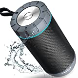 Wireless Bluetooth Speaker, COMISO Portable Bluetooth Speaker System with 12W Dual Driver HD