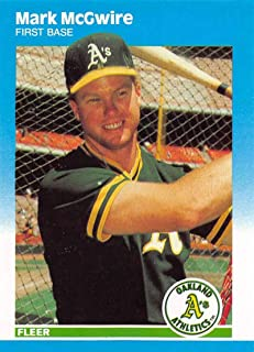 1987 Fleer Update Baseball Card #U-76 Mark McGwire Oakland Athletics Official MLB Trading Card