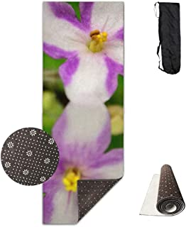 wenhuamucai Morning Glory Yoga Mat - Advanced Yoga Mat - Non-Slip Lining - Easy to Clean - Latex-Free - Lightweight and Durable - Long 180 Width 61cm
