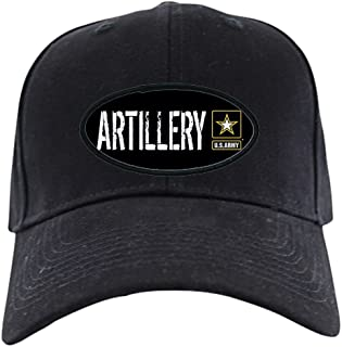 CafePress U.S. Army: Artillery (Black) Black Cap Baseball Hat, Novelty Black Cap
