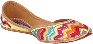 MSC Leather Ethnic Multi Flat Bellie for Women