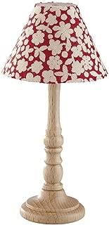 Rulke Rulke010292 Wood Floor Lamp with Fabric Umbrella