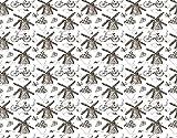 HASENCIV Pintura de Diamante DIY para Adultos Ilustración de símbolos tradicionales holandeses con tulipanes de molinos de viento dibujados a mano Bricolaje Diamond Painting 40x50cm Rhinestone