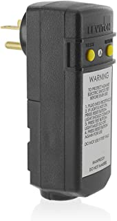 Leviton 16793 20-Amp, 120-Volt, Grounded, Compact Automatic Reset Right Angle GFCI, RoHS Compliant, Black