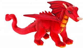 """Pack of 3 Life-Like Handcrafted Extra Soft Plush Mini Red Great Dragon Stuffed Animal 11.75"""""""