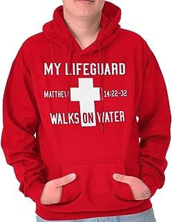 My Lifeguard Walks On Water Gospel Matthew Hoodie
