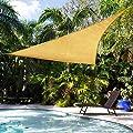 Shade&Beyond 12'x12'x17' Sun Shade Sail Triangle Sail Shade Canopy for Patio Lawn Garden