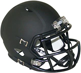 blank black football helmet