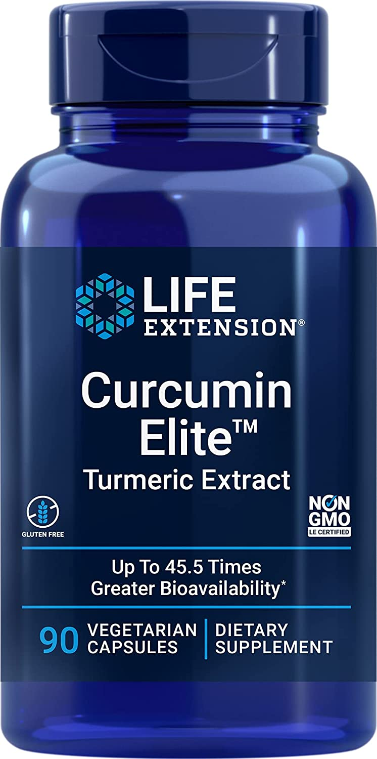 Life Extension Curcumin Elite Turmeric Capsules Extract 90 Free shipping Finally popular brand anywhere in the nation Veg