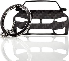 BlackStuff Carbon Fiber Keychain Keyring Ring Holder Compatible with Cayenne 2003-2010 BS-633