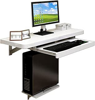 Wall-Mounted Drop-Leaf Table Rectangle Home Office Table Desk Workstation Computer Desk Space Saving, Multiple Sizes Modern Style
