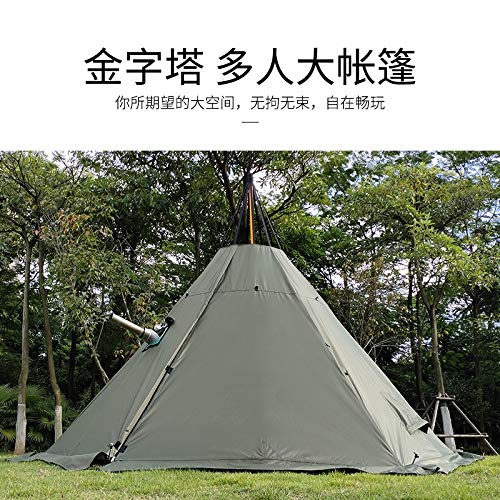 ZFLL outdoor tent 4 5 6 Person Pentagon Pyramid Flamming Teepee Shelter Tent Auto Tent Wandelen Awning Party Pergola Outdoor Camping Army Relief Tent
