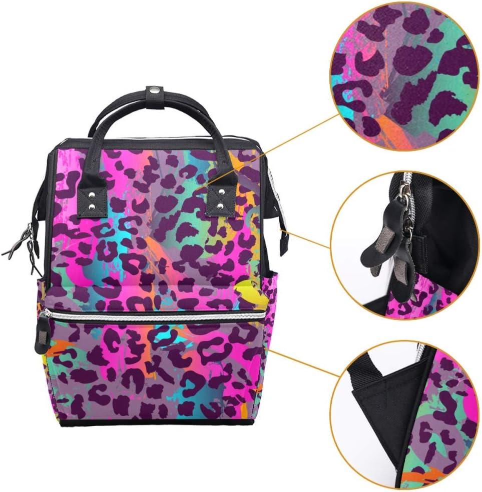 Animal Dreamy Penguin Couple Diaper Bag Laptop Backpacks Notebook Rucksack Travel Hiking Daypack for Women Men
