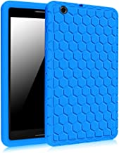 Fintie AT&T Trek 2 HD Case (Model 6461A) [Honey Comb Series] Light Weight Shock Proof Silicone Protective Cover [Anti Slip] [Kids Friendly] for 8-inch AT&T Trek 2 HD (2016), Blue